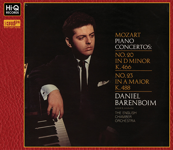 """Mozart : Piano Concertos No.20 in D Minor, K.466 No.23 in A Major, K.488"" / Daniel Barenboim (Piano)"
