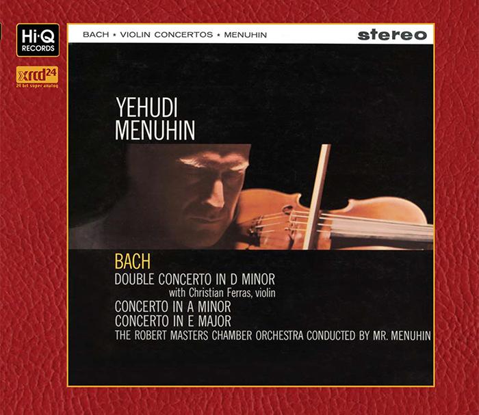 バッハ 「ヴァイオリン協奏曲 第1番」「2つのヴァイオリンのための協奏曲」「ヴァイオリン協奏曲 第2番」/ メニューイン、バス・フェスティバル管弦楽団